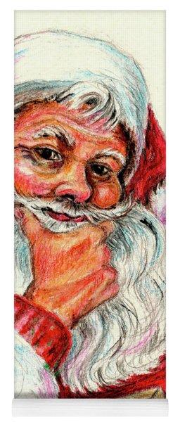 Santa Checking Twice Christmas Image Yoga Mat