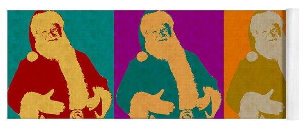 Santa Claus Andy Warhol Style Yoga Mat