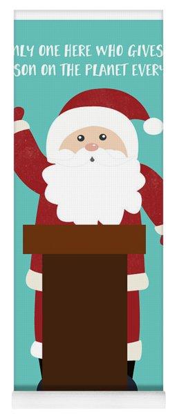 Santa Clinches The Nomination- Art By Linda Woods Yoga Mat