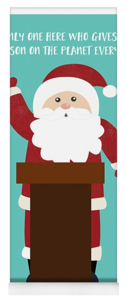 Santa Clinches The Nomination- Art By Linda Woods Yoga Mat