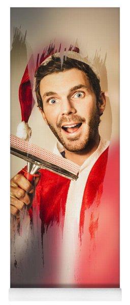 Santa Elf Preparing For Christmas Yoga Mat