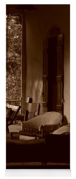 Yoga Mat featuring the photograph Santa Fe Porch by Susie Rieple