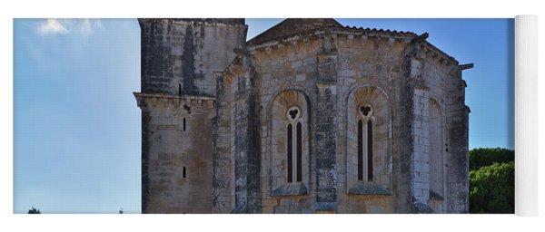 Santa Maria Do Carmo Church In Lourinha. Portugal Yoga Mat