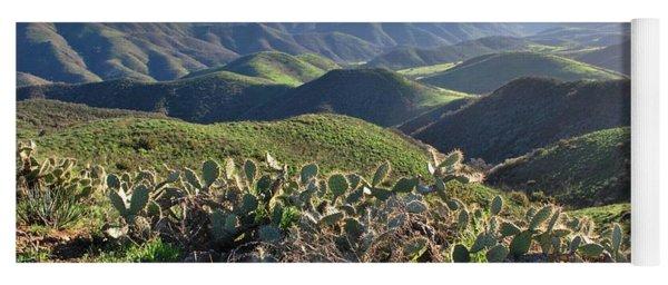 Santa Monica Mountains - Hills And Cactus Yoga Mat