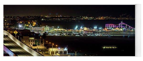 Santa Monica Pier Light Show - Series 2 Yoga Mat
