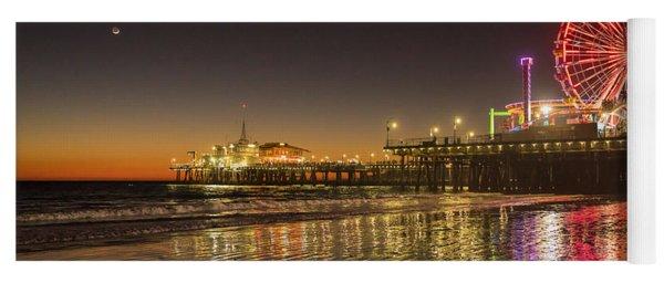 Santa Monica Pier After Sunset Yoga Mat