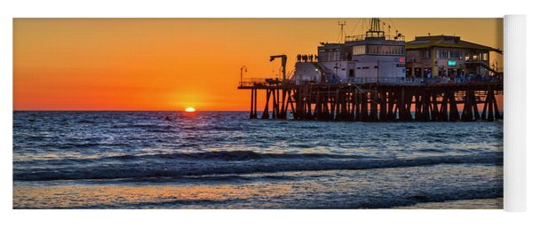 Santa Monica Pier At Sunset Yoga Mat