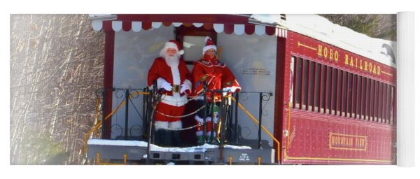 Santa On Train 2 Yoga Mat