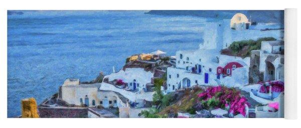 Santorini Greece Dwp416136  Yoga Mat