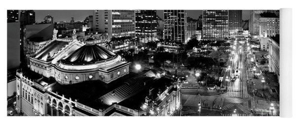 Sao Paulo Downtown - Viaduto Do Cha And Around Yoga Mat