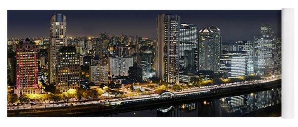 Sao Paulo Iconic Skyline - Cable-stayed Bridge  Yoga Mat