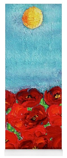 Sarah's Poppies Yoga Mat