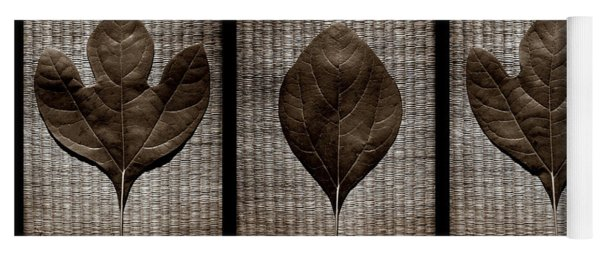 Sassafras Leaves With Wicker Yoga Mat