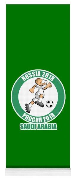 Saudi Arabia In The Soccer World Cup Russia 2018 Yoga Mat