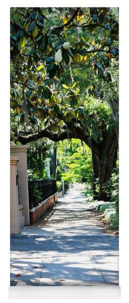 Savannah Sidewalk With Magnolia Tree Yoga Mat