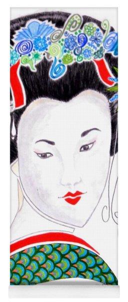 Sayaka -- The Original -- Portrait Of Geisha Girl Yoga Mat
