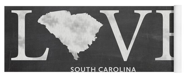 Yoga Mat featuring the mixed media Sc Love by Nancy Ingersoll