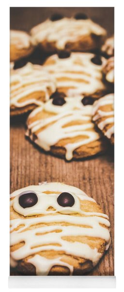 Scared Baking Mummy Biscuit Yoga Mat
