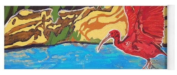 Scarlet Ibis Yoga Mat