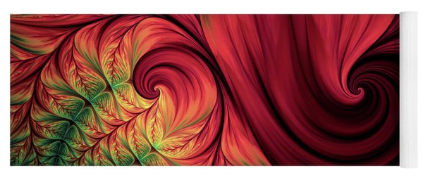 Scarlet Passion Abstract Yoga Mat