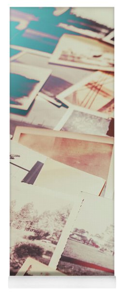 Scattered Collage Of Old Film Photography Yoga Mat