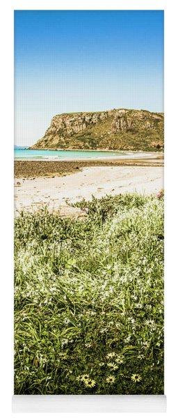 Scenic Stony Seashore Yoga Mat
