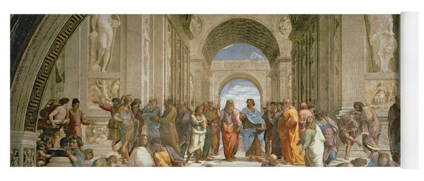 School Of Athens From The Stanza Della Segnatura Yoga Mat