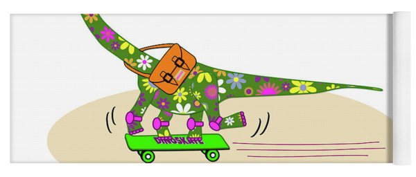 Schools Out For Dinosaurs Yoga Mat