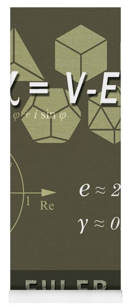 Science Posters - Leonhard Euler - Mathematician, Physicist, Engineer Yoga Mat