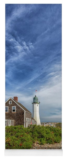Scituate Lighthouse Boardwalk Yoga Mat
