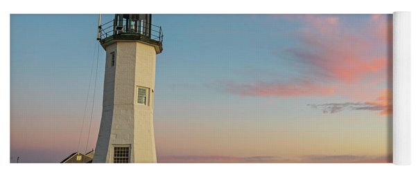 Scituate Lighthouse Scituate Massachusetts South Shore At Sunrise Yoga Mat