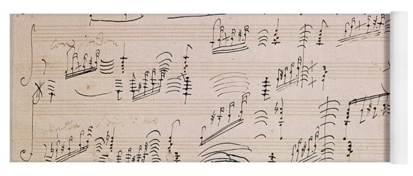 Score Sheet Of Moonlight Sonata Yoga Mat