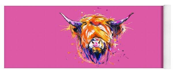 Scottish Highland Cow Yoga Mat
