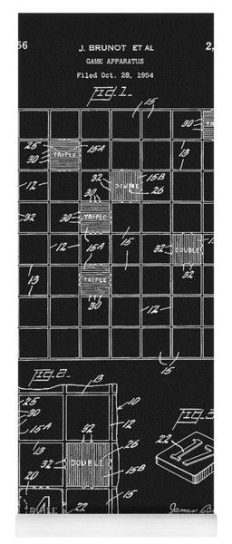 Scrabble Game Board Patent Yoga Mat