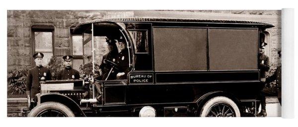 Scranton Pennsylvania  Bureau Of Police  Paddy Wagon  Early 1900s Yoga Mat