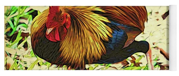 Scratching Rooster Yoga Mat