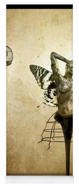 Scream Of A Butterfly Yoga Mat