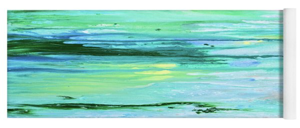 Sea Meets Land Panoramic Painting Yoga Mat