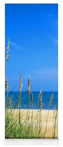 Sea Oats And Blue Skies At Avon Beach  Yoga Mat