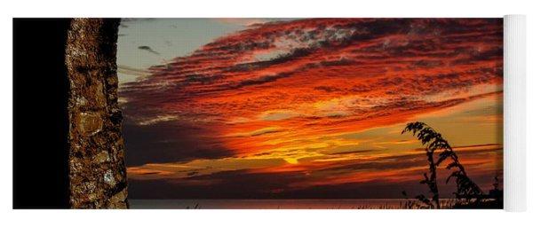 Sea Oats And Sunset Yoga Mat