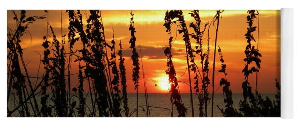 Sea Oats In The Sun Yoga Mat
