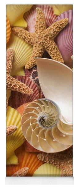 Sea Shells And Starfish Yoga Mat