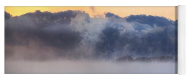 Sea Smoke At Owls Head Panorama Yoga Mat