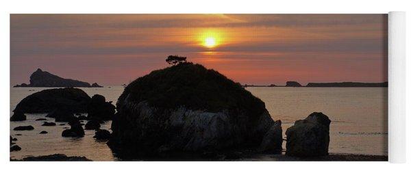 Sea Stack Sunset Yoga Mat
