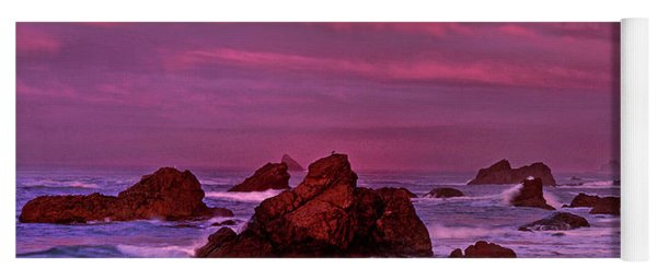 Sea Stacks Harris State Beach Oregon Yoga Mat