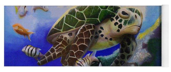 Sea Turtle Acrylic Painting Yoga Mat