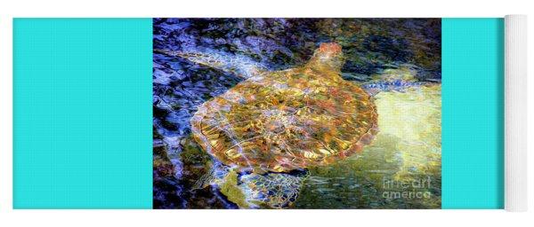 Sea Turtle In Hawaii Yoga Mat