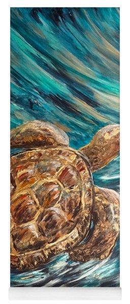 Sea Turtle Wave Guam Yoga Mat