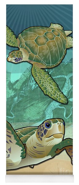 Sea Turtles Near Beaufort, Sc Yoga Mat