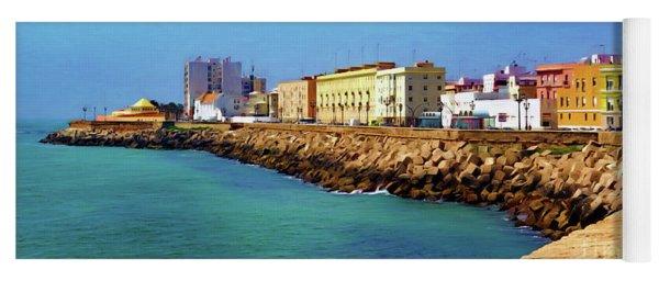 Seafront Promenade In Cadiz Yoga Mat